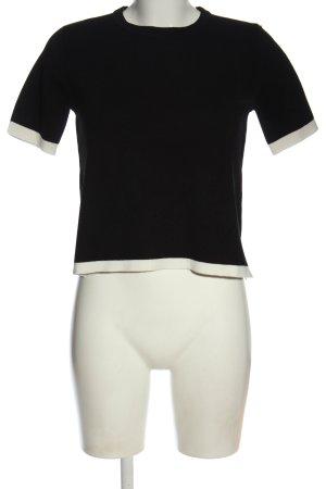 Zara Strickshirt schwarz-weiß Casual-Look