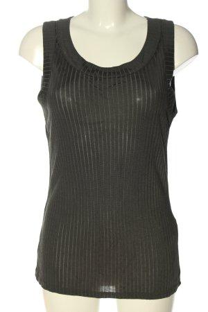 Zara Strickshirt khaki Zopfmuster Casual-Look