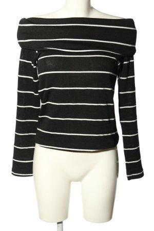 Zara Strickshirt schwarz-weiß Streifenmuster Casual-Look