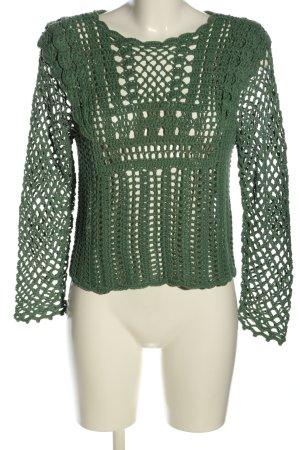 Zara Knitted Jumper green casual look