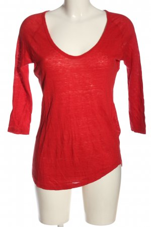 Zara Strickshirt rot Casual-Look