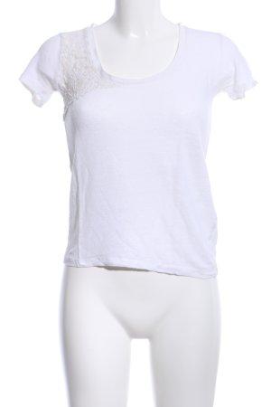 Zara Strickshirt weiß Casual-Look
