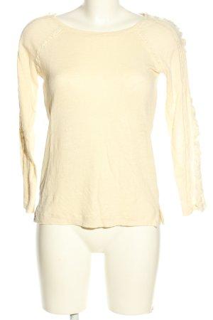 Zara Strickshirt creme Casual-Look