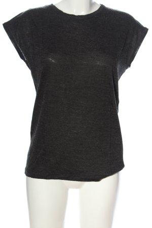 Zara T-shirts en mailles tricotées noir moucheté style décontracté