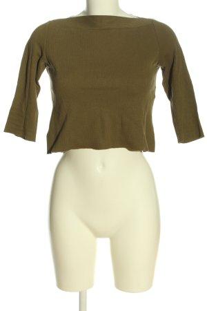 Zara Strickshirt khaki Casual-Look