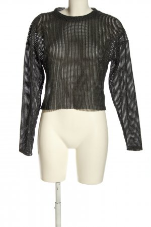 Zara Strickshirt schwarz Casual-Look