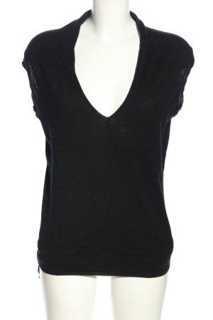 Zara Strickshirt schwarz-hellgrau Casual-Look