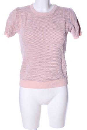 Zara Strickshirt pink-blau Allover-Druck Business-Look