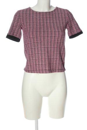 Zara Strickshirt pink-schwarz Casual-Look