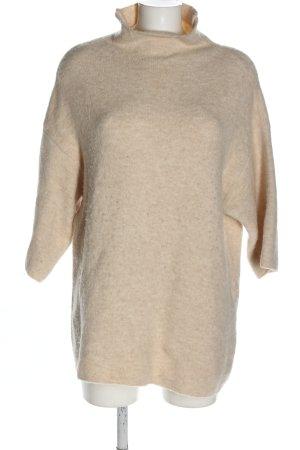 Zara Strickshirt creme Zopfmuster Casual-Look