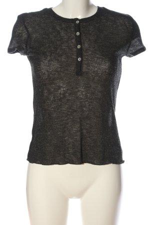 Zara Strickshirt schwarz meliert Casual-Look