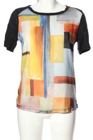 Zara Strickshirt Motivdruck Casual-Look