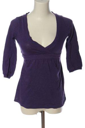 Zara Gebreid shirt lila casual uitstraling