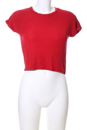Zara Gebreid shirt rood casual uitstraling