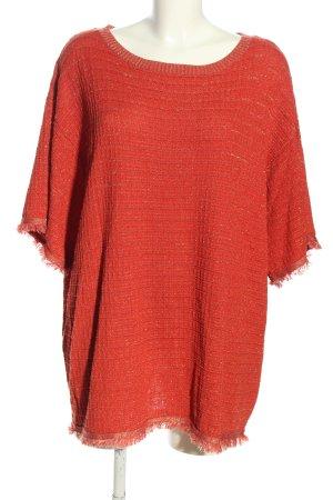 Zara Strickshirt rot meliert Casual-Look