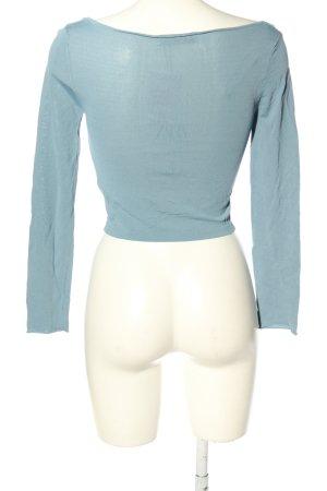 Zara Strickshirt blau Casual-Look