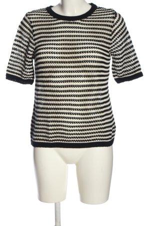 Zara Strickshirt schwarz-weiß Allover-Druck Casual-Look