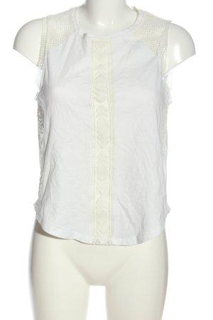 Zara Gebreid shirt wit casual uitstraling