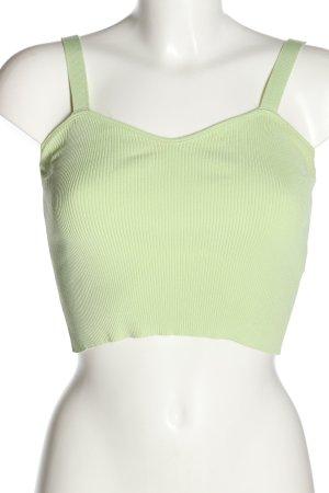 Zara Stricktop grün Casual-Look