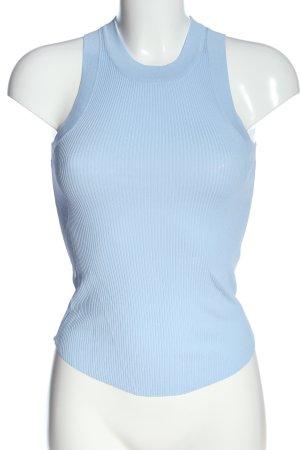 Zara Top lavorato a maglia blu motivo a righe stile casual