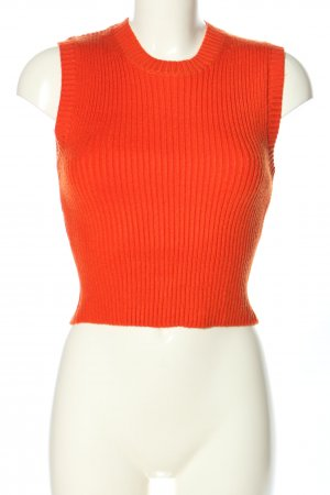 Zara Stricktop rot Casual-Look