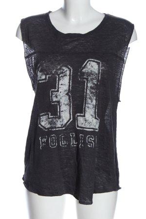 Zara Haut tricotés noir-blanc lettrage imprimé style décontracté