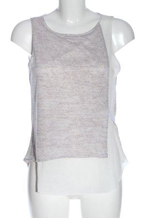 Zara Haut tricotés gris clair-turquoise moucheté élégant