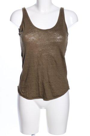 Zara Haut tricotés brun moucheté style décontracté