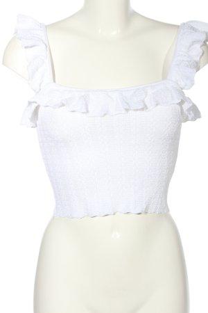 Zara Gebreide top wit casual uitstraling