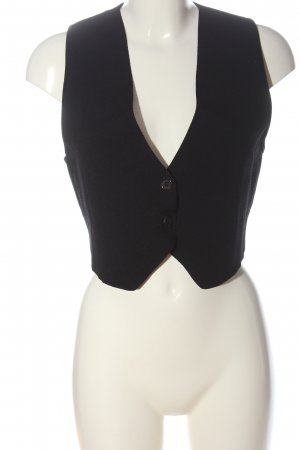 Zara Chaleco de punto negro estilo «business»