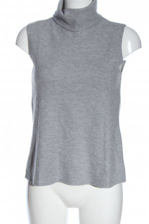Zara Neckholder Top light grey flecked casual look