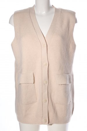 Zara Strickweste creme Casual-Look
