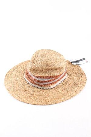 Zara Cappello di paglia bianco sporco punto treccia stile casual
