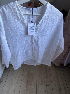 Zara strukturierte Bluse Hemdbluse Größe S