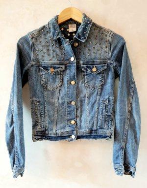 Zara Studded Denim Jacket S