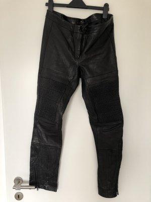 H&M Studio Leren broek zwart