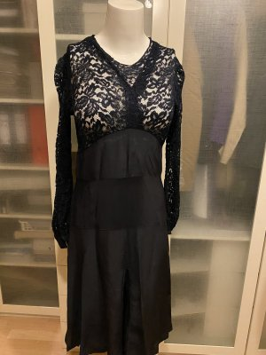Zara Studio Spitzen Kleid mit Seide Gr 36