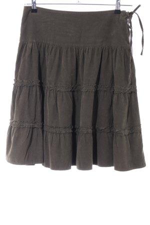 Zara Warstwowa spódnica khaki Wygląd w stylu miejskim
