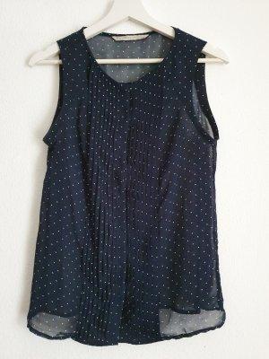 Zara Trafaluc Camisa de mujer blanco-azul oscuro