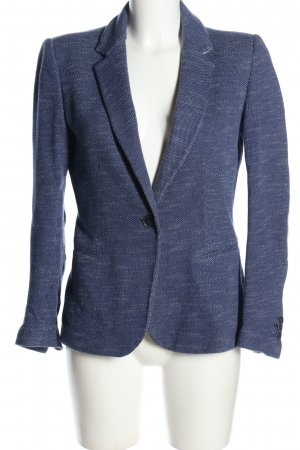 Zara Sweatblazer blau meliert Casual-Look