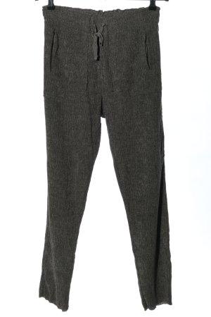 Zara Pantalone fitness grigio chiaro-nero motivo a righe stile casual