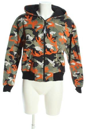 Zara Sweatjacke Camouflagemuster Casual-Look