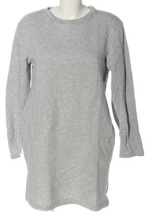 Zara Sweat Dress light grey flecked casual look