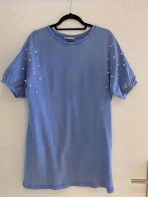 Zara Trafaluc Sukienka dresowa błękitny