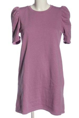 Zara Sweatkleid lila Casual-Look