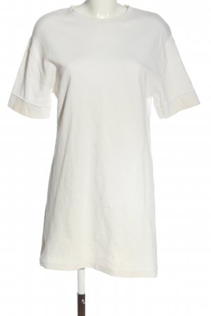 Zara Vestido de tela de sudadera blanco look casual