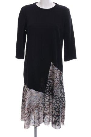 Zara Sweatjurk zwart abstract patroon casual uitstraling