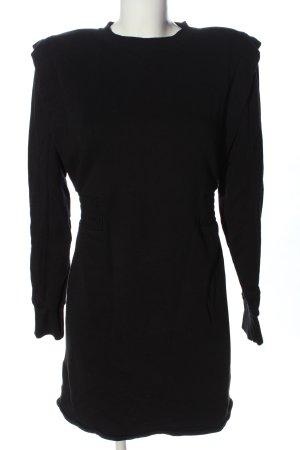 Zara Vestido de tela de sudadera negro letras impresas look casual