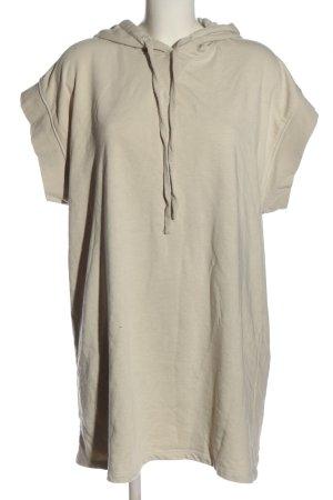 Zara Sweatkleid wollweiß Casual-Look