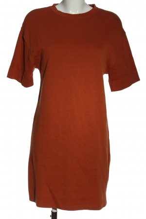 Zara Sweatkleid hellorange Casual-Look